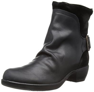 FLY London MEL warm, Damen Kurzschaft Stiefel, Schwarz (Black 003), 38