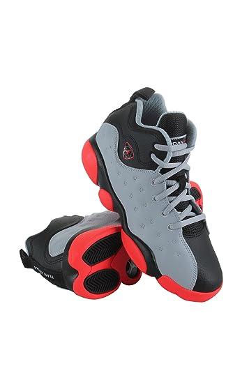best service 05d41 cce4f Jordan Kids Jumpman Team II BP Wolf Grey Infrared 23 Black Size 2