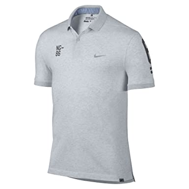 Nike NG-86 Dry Washed Men's Golf Polo Shirt (Large, Birch Heather/
