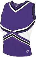 3-Color Kick Cheerleading Uniform Top - Womens Sizes