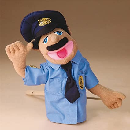 Amazoncom 4 Pack Melissa Doug Police Officer Puppet Toys Games