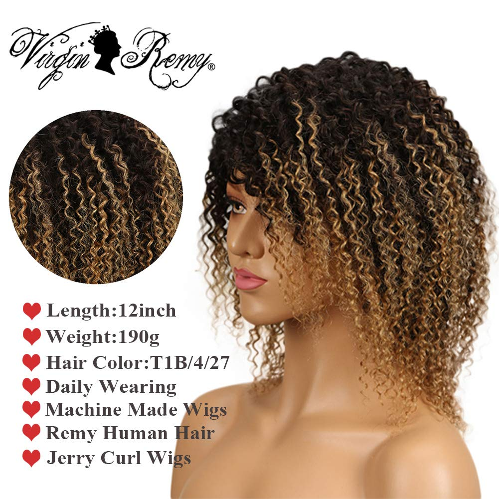 Amazon Qvr Brazilian Jerry Curly Virgin Hair Bob Wigs Short