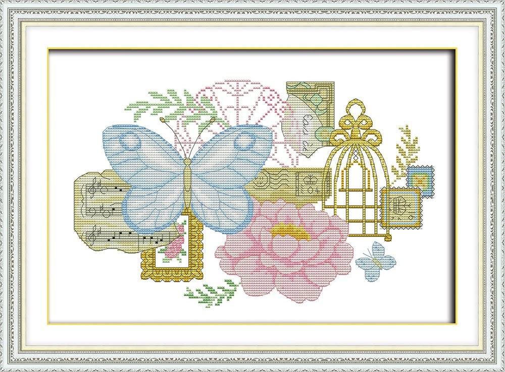 inch Maydear Cross Stitch Kits Stamped Full Range of Embroidery Starter Kits for Beginners DIY 11CT 3 Strands Sunflower 23.6/×19.3