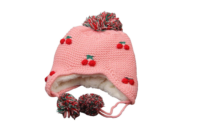 Setaria Viridis Baby Christmas Hats 100/% Cotton Brocade Knit Cap Cherry Winter Hat