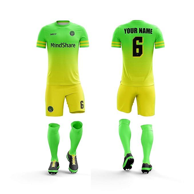 hot sale online a3742 36ca2 Amazon.com: ORKY Personalized Soccer Jersey Short Men Kids ...