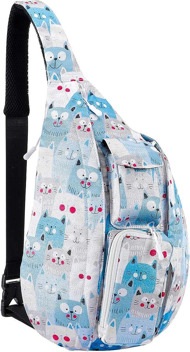 Women Sling Bag Travel Chest Pack Multipurpose Casual Rope Backpack Crossbody Daypack