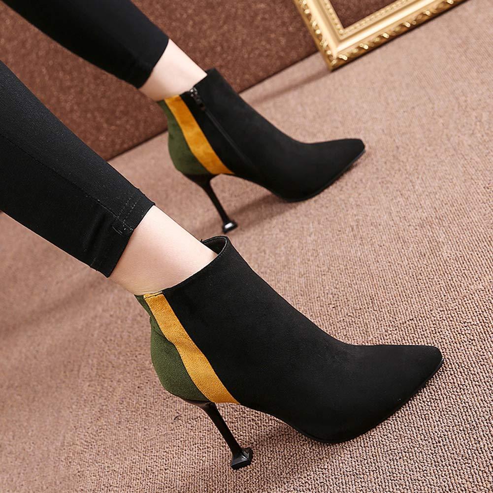 GONGYU, Damen Stiefel & gelbgrün Stiefeletten, gelbgrün & - Größe: 37.5 - 4d22dd