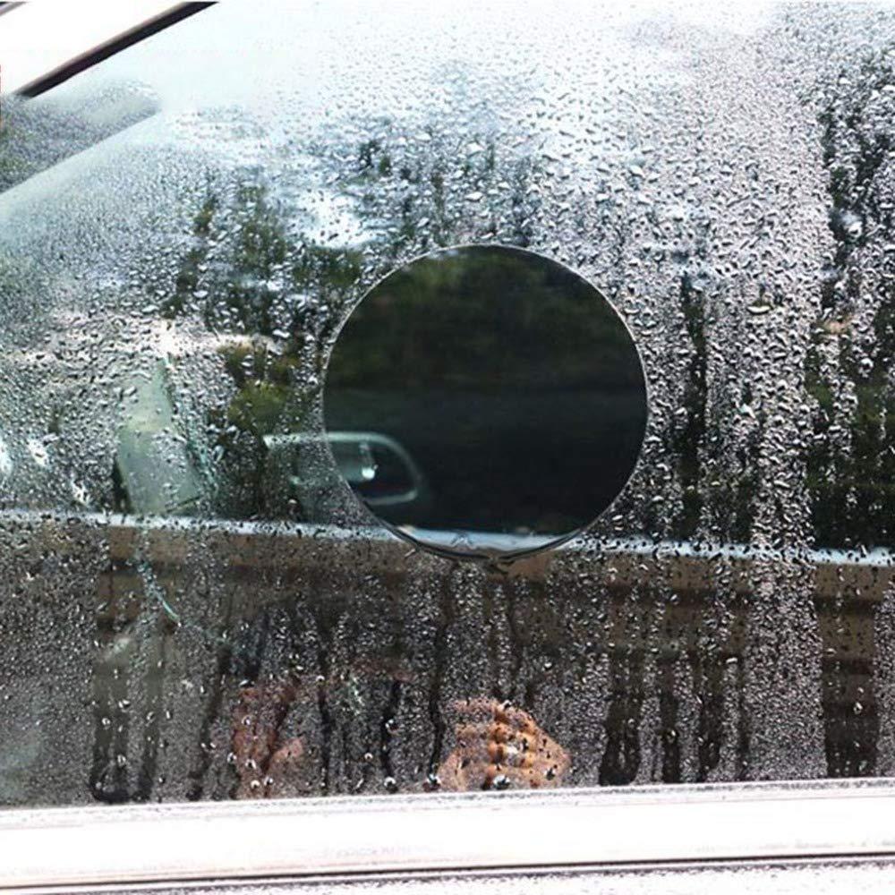 Binchil Film De Protection De Retroviseur De Voiture Membrane Anti-Brouillard Anti-Eblouissement Etanche Antipluie Film De Fenetre De Miroir De Voiture Clair L Blanc