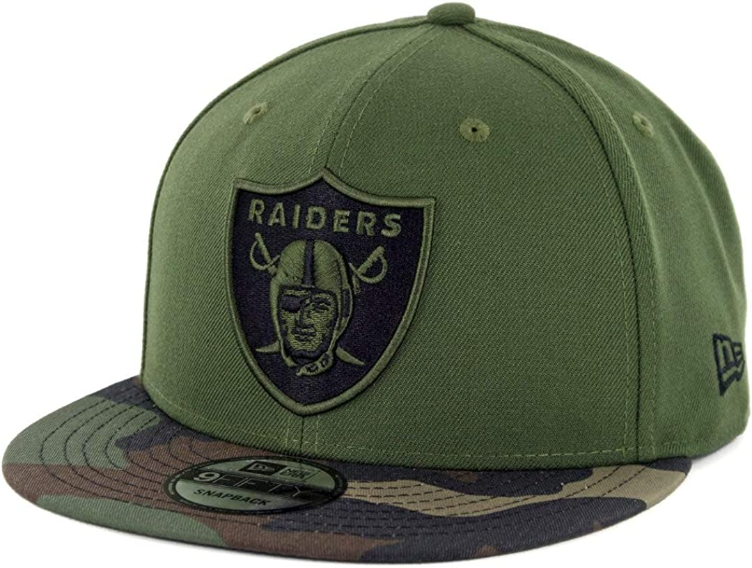 New Era 9Fifty Snapback Cap Oakland Raiders schwarz camo