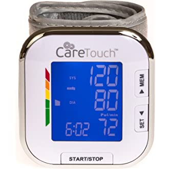 #3 Care Touch Fully Automatic Wrist Blood Pressure Cuff Monitor - Platinum Series, 5.5
