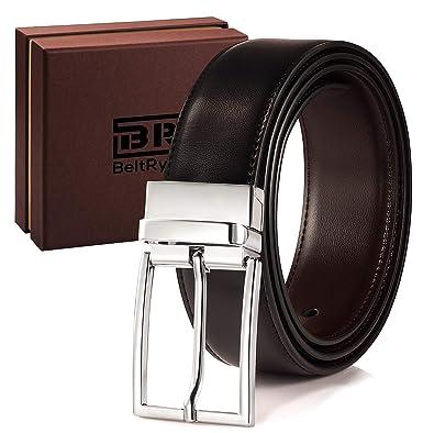 c2e3742ca Reversible Leather Belts for Men - BeltRyte Mens Dress Belt Brown / Black -  36 inch