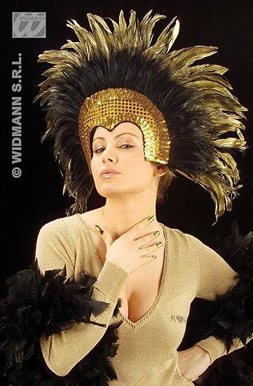 Plume coiffe du Moulin Rouge, argent / noir