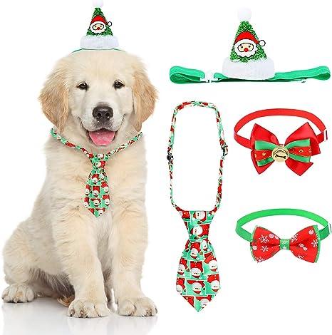 QKURT 4PCS 4pcs Sombrero de Santa Claus, Corbata de Pajarita para ...