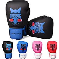BES Smart/® Professional Boxing Gloves For Adults Youth Kids Men and Women Mitts Leather Pro Gel Muay Thai MMA Kick Boxing Sparring Grappling Fighting /& Training Punch Bag