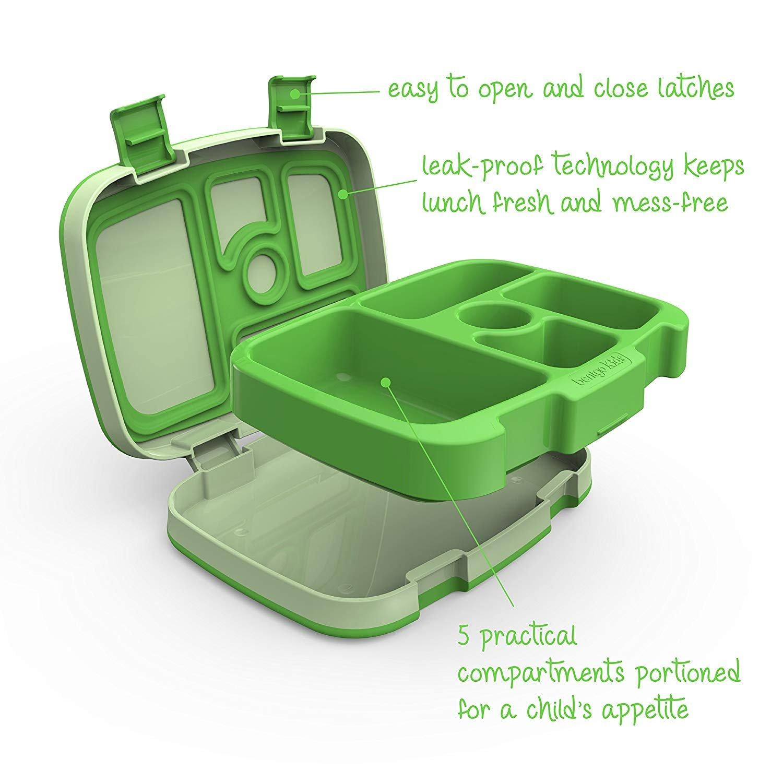 Kinder Lunchbox // Bento Box // Brotdose mit 5 Unterteilungen auslaufsicher Blau Bentgo Kids