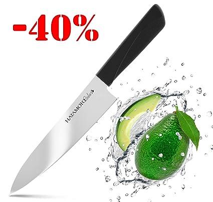HATAMOTO Cuchillos Profesionales - Cuchillo Japones Acero Inoxidable - Cuchillos de Cocina Chef para Carne Pescado y Verduras - Cuchillo Cebollero ...
