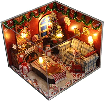 Handmade Mini Modern Apartment Model Creative Christmas Birthday Gift 3D Puzzle Educational Toy Transser Diy Wooden Dollhouse With Miniature Furniture Kit