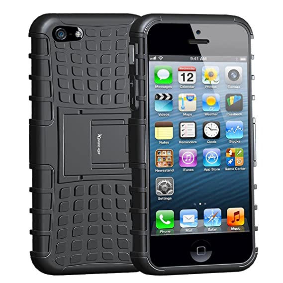 size 40 3f481 ae908 case for iphone 5s , Armor Heavy Duty Rugged Dual Layer Hybrid Shockproof  Case Protective Cover for Apple iPhone 5 5S SE with Built-in Kickstand ...