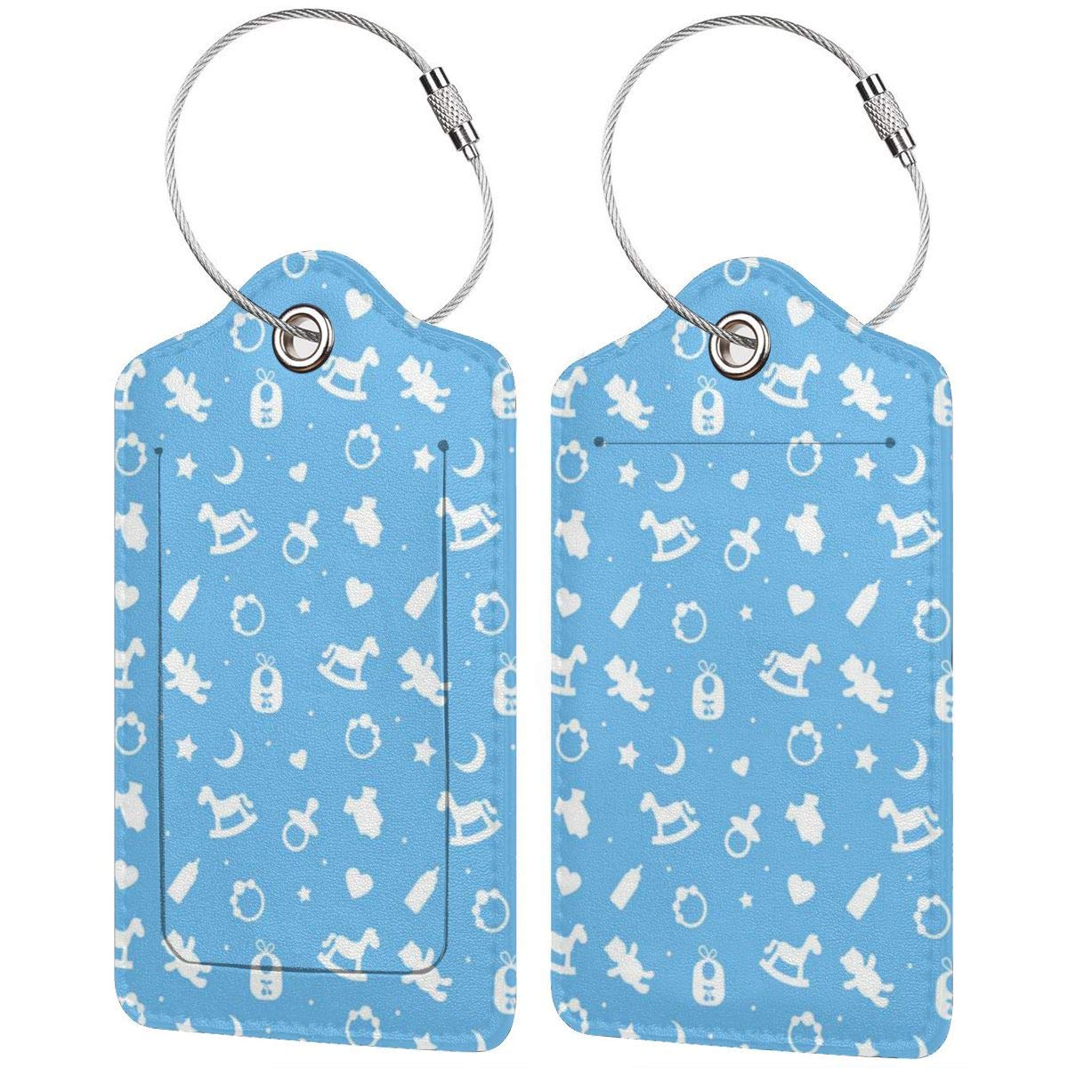 Drinking Buddies Luggage Tags With Full Back Privacy Cover W//Steel Loops