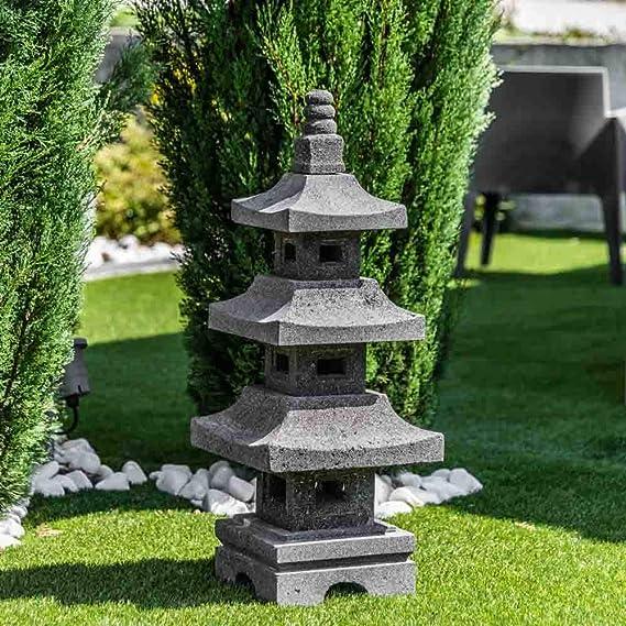 Wanda collection Linterna Japonesa Pagoda de Piedra de Lava 80 cm: Amazon.es: Jardín