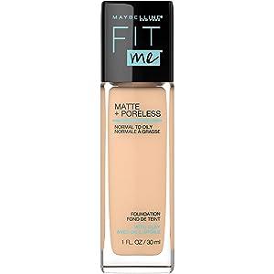 Maybelline Fit Me Matte + Poreless Liquid Foundation Makeup, Soft Sand, 1 fl. oz. Oil-Free Foundation