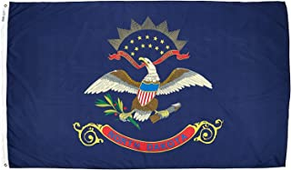product image for Annin Flagmakers Model 144180 North Dakota Flag Nylon SolarGuard NYL-Glo, 5x8 ft, 100% Made in USA to Official State Design Specifications