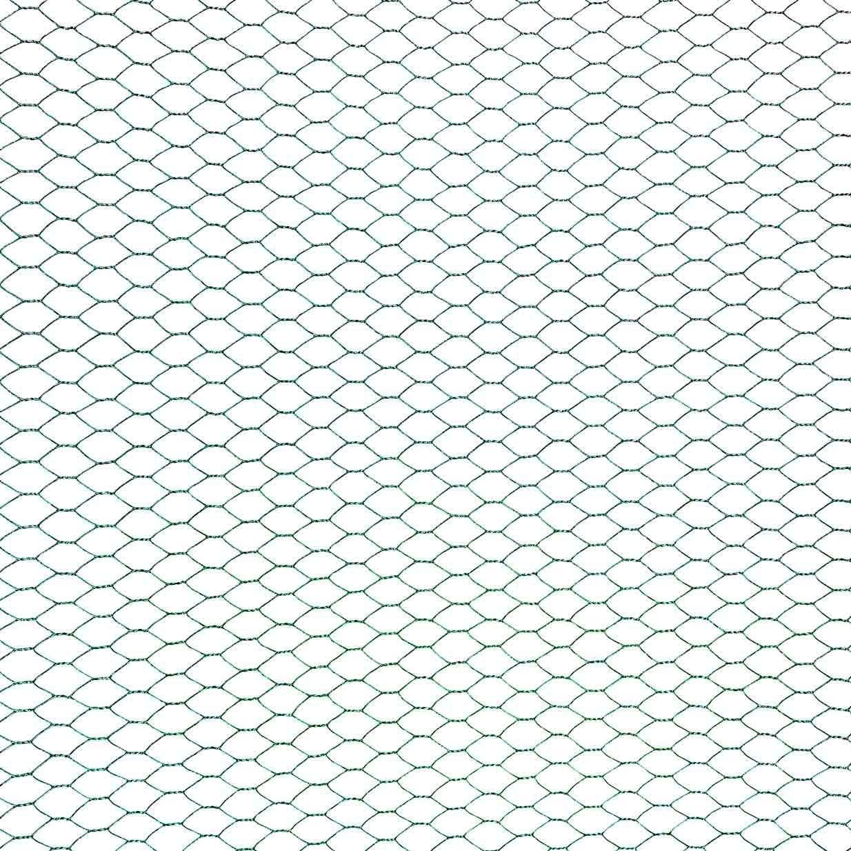 0,50 x 25 m ESTEXO Sechseckgeflecht Zaun Draht Hasendraht Drahtzaun Drahtgeflecht 6eck Gartenzaun Drahtgitter 13 mm Maschenweite Gr/ün