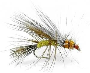 Set of 3 Yellow Neon Straggle Lures size 10 Fly Fishing Flies Fl Orange
