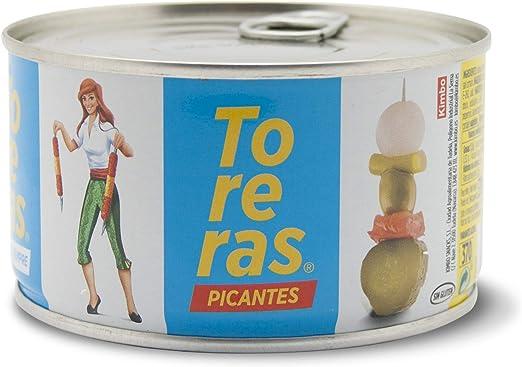 Banderillas picantes, Toreras tradicionales. Pack 2 - Banderillas de aceituna, cebolla, pepinillo, guindilla, pimiento. Encurtidos fabricados en ...