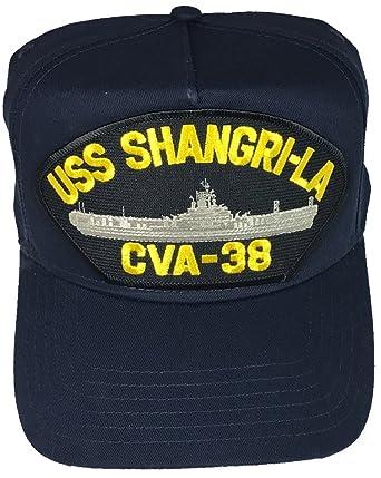 13cc8902 Amazon.com: EC USS Shangri-LA CVA-38 Hat - Navy Blue - Veteran Owned ...