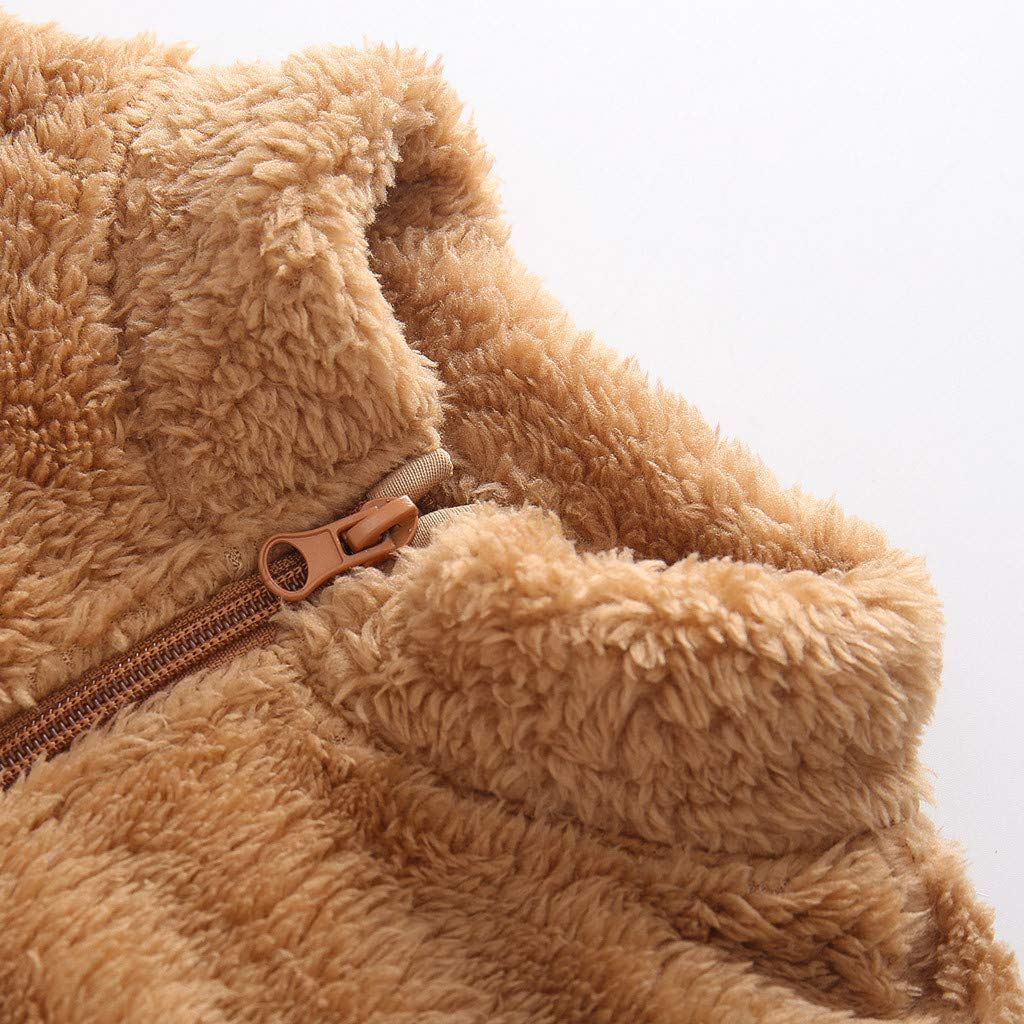 QinMMROPA Abrigo Grueso con Cremallera para beb/és ni/ñas ni/ños Ropa Chaqueta de Invierno Primavera Chaqueta Chaqueta Polar Bebe Chaqueta Algodon
