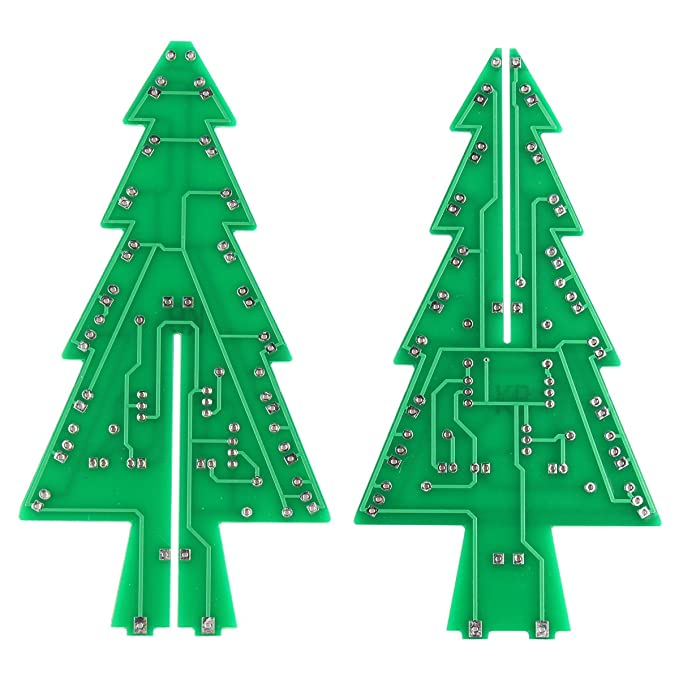 haljia 3d christmas tree led diy kit flash led circuit electronic learning kit amazon co uk lighting