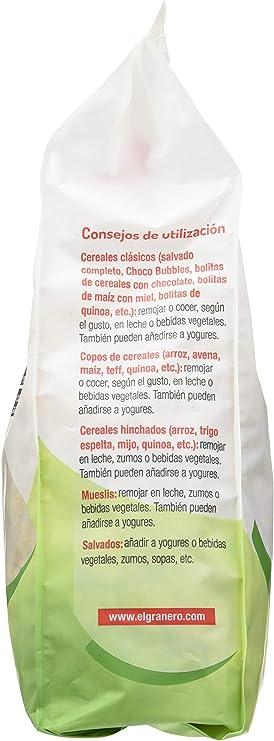 Granero Copos Crujientes de Maíz Y Trigo Sarraceno Bio 350 Envase de 350 Gramos: Amazon.es: Alimentación y bebidas