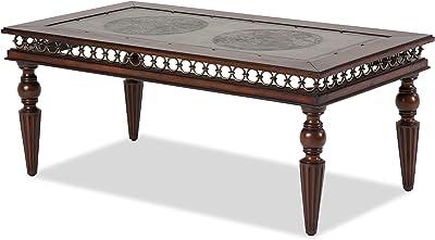 Michael Amini FS-CRSDE201 Crusade Rectangular Cocktail Table with Decorative Apron
