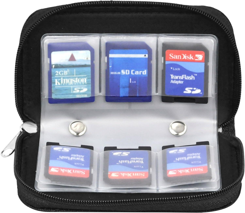 TRIXES Soporte de Tarjeta de Memoria con 22 Ranuras Estuche Cartera para SD CF Mini y Micro SD y MS Pro: Amazon.es: Electrónica