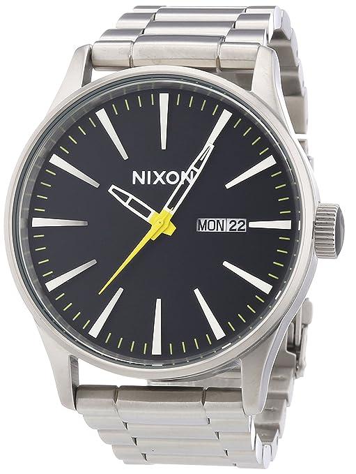 Nixon Reloj Analógico de Cuarzo para Hombre con Correa de Acero Inoxidable Chapado – A3561227-