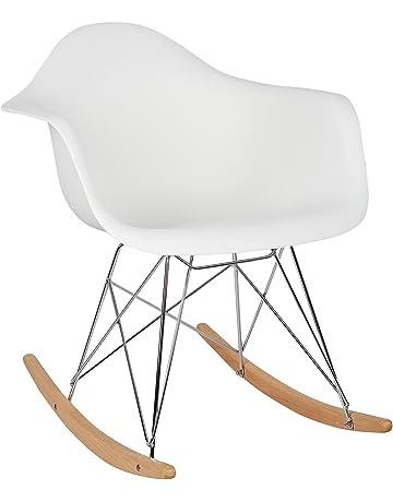- Chaise A Bascule Blanche