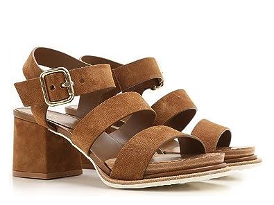 bcc088eef25 Tod s Sandales à Talons Hauts en Cuir Veau Velours Marron - Code modèle   XXW19A0T610RE0S609 - Taille  40 EU  Amazon.fr  Chaussures et Sacs