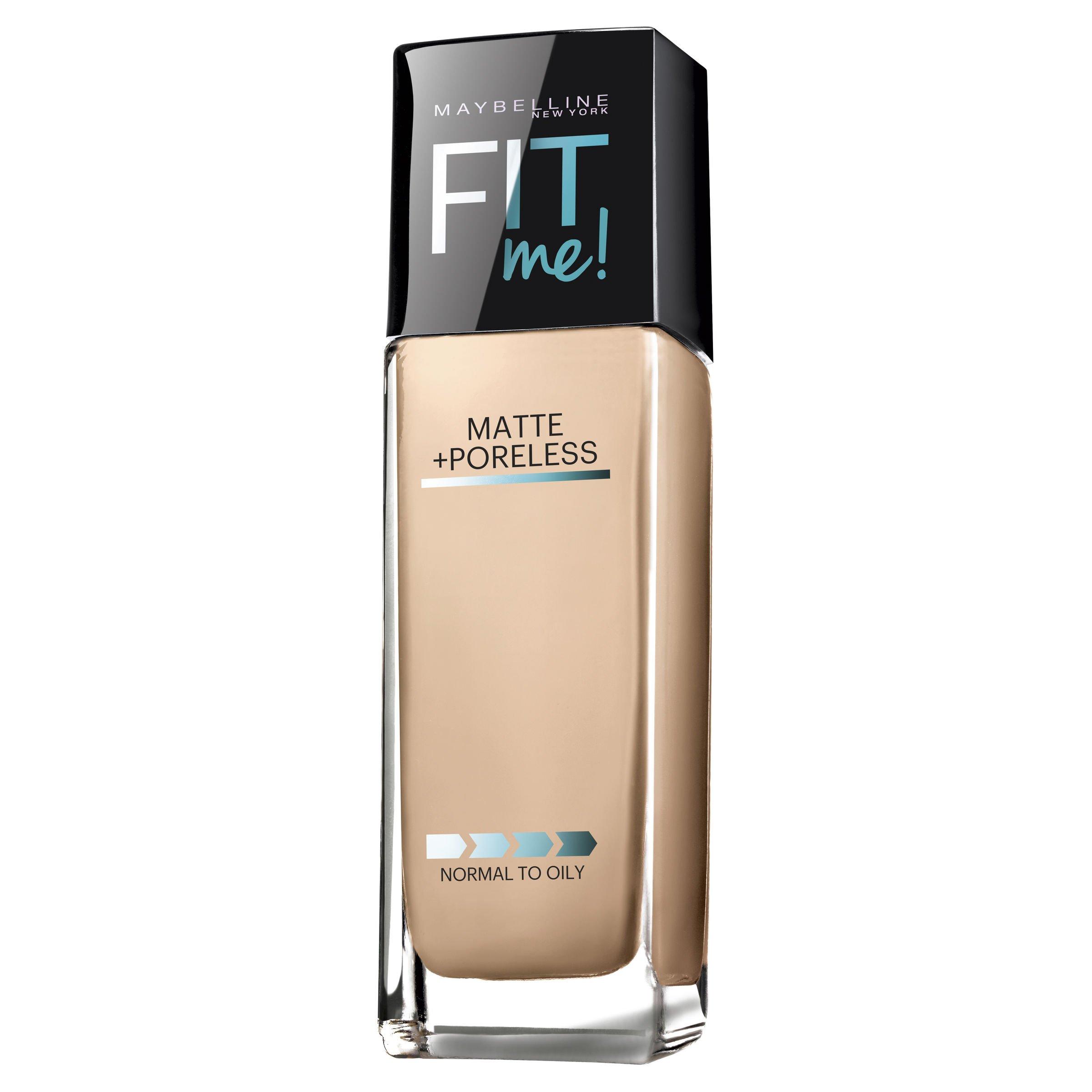 Maybelline Fit Me Matte + Poreless Foundation, Classic Ivory, 1 fl. oz.
