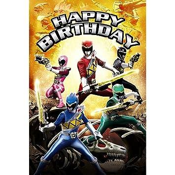 Happy Birthday Power Rangers Birthday Card Amazon Toys Games