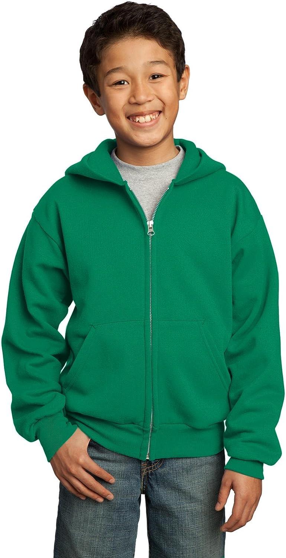 Youth Core Fleece Full-Zip Hooded Sweatshirt PC90YZH Port /& Company