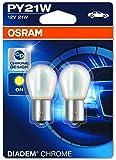OSRAM DIADEM CHROME PY21W Halogen-Signallampe, Blinklicht, 7507DC-02B, 12V PKW, Doppelblister (2 Stück)