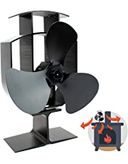 Heat Powered 3 Blade Stove Fan | Silent Operation | Fireplace Wood & Log Burner | Effective Heat Circulation | Eco Friendly | M&W