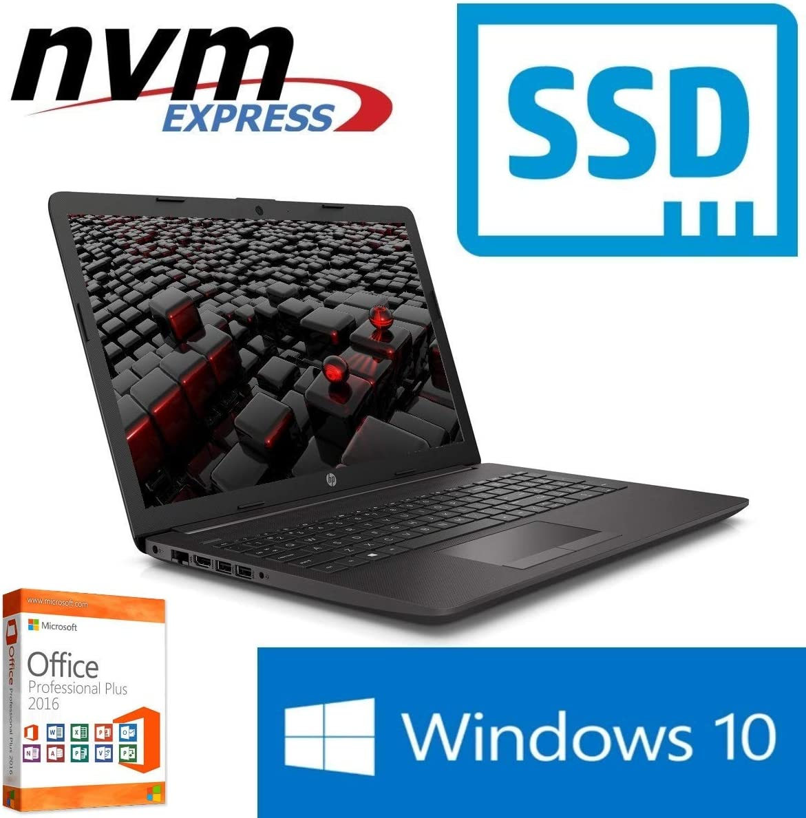 Portátil 255 G7 – 8 GB RAM – 128 GB SSD – Windows 10 Pro + MS ...