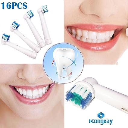 TopCores - Cabezales para cepillo de dientes eléctrico (16 unidades, compatible con Braun Oral
