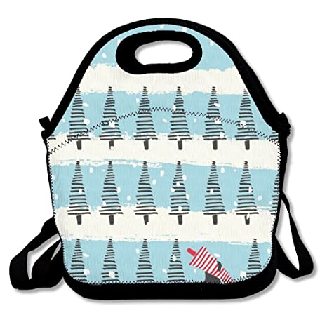 cd094ff0cc64 Amazon.com: Winter Convenient Lunch Box Tote Bag Rugged Lunchbox ...
