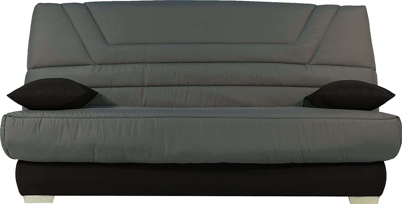Destock Meubles Banqueta para sofá Cama Tejido Negro colchón 130 x 190 Bultex Espuma HR: Amazon.es: Hogar