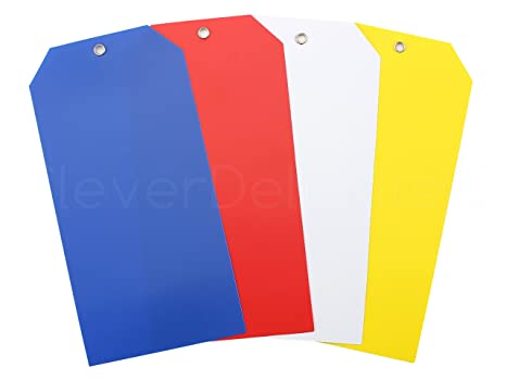 Amazon com : 100 Pack - CleverDelights Large Plastic Tags - 6 25