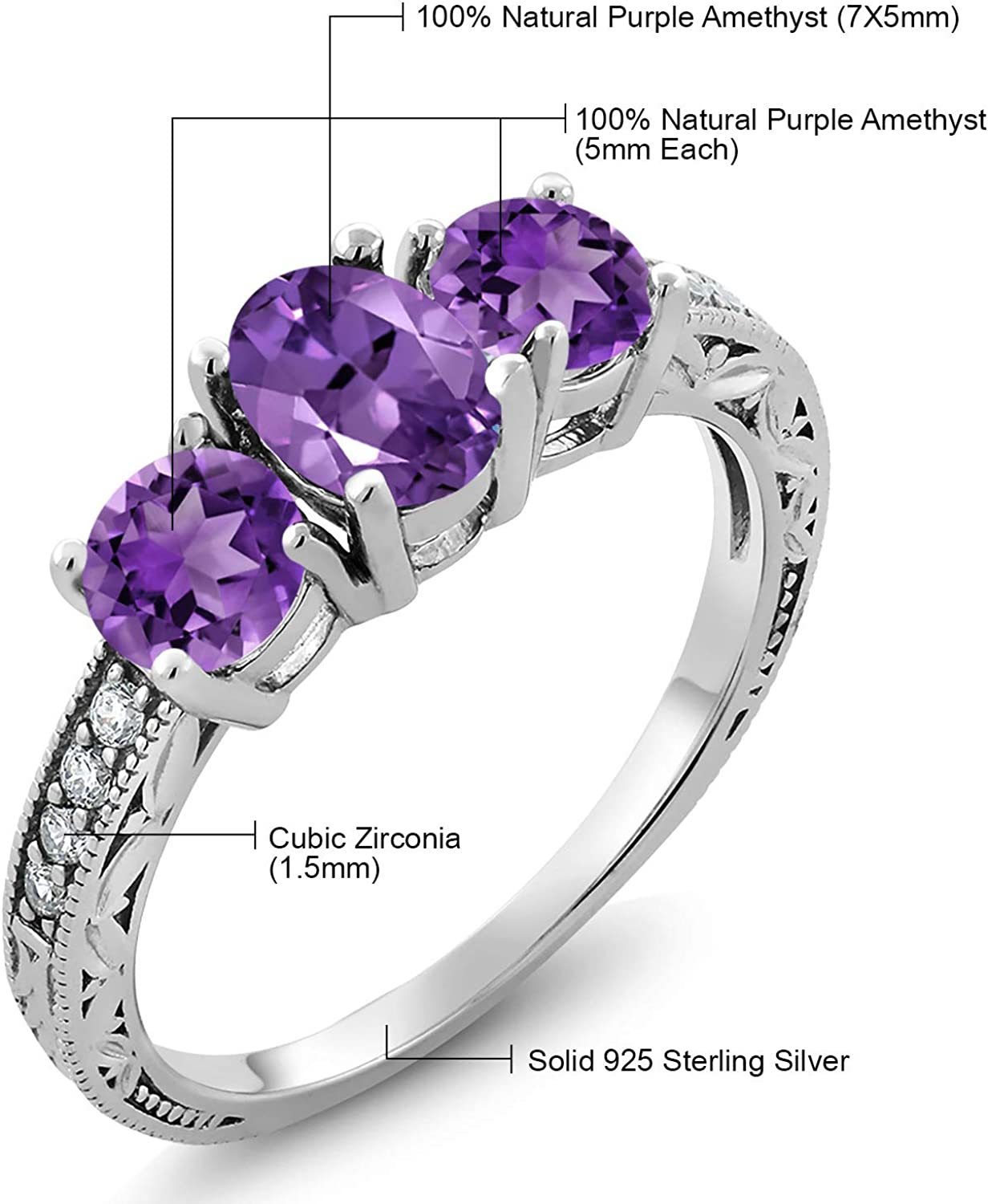 Clear CZ Round Wedding Ring New .925 Sterling Silver Princess Band Sizes 5-10