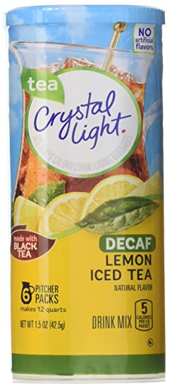 Crystal Light Decaf Iced Tea Drink Mix, Natural Lemon Flavor, 1.5 Ounce Packages